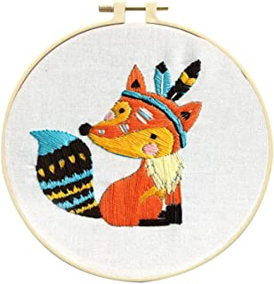 Louise Maelys Cross Stitch Kit Full Range DIY Embroidery Starter Kit with Animal Pattern Stamped Embroidery Kits Set for Beginner