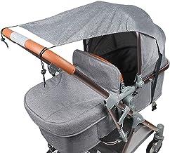 Sonnensegel für Kinderwagen Babywanne TBoonor flexibler Baby Sonnenschutz Kinderwagen mit UV Schutz 50 Universal Staubdicht/Winddicht Sonnendach für Kinderwagen und Buggy