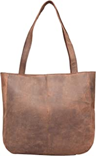 Vintage Leather Tote Bag Coco Brown [Byron Bay]