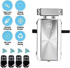 OWSOO Cerradura de Puerta, Cerradura sin Llave, Cerradura Invisible con 4 Control Remoto, Cerradura Electrónica Inteligente, Sistema de Control de Acceso