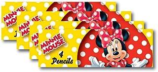 amscan 8 boîtes de Crayon (4 Crayons de Couleur) Disney Minnie Mouse - Rouge à Pois