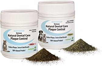 Vetnex Natural Dental Care Plaque Control Duo-Pack for Cats (Original+Salmon Powders) 2x100g