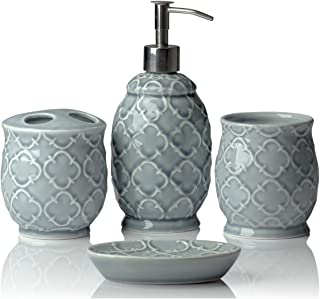 Best grey stone bathroom accessories sets Reviews