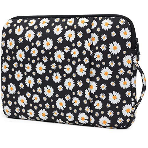 OneGET Laptop Sleeve for 2020 13 Inch Macbook Internal Fluff Laptop Bag With Accessory Pocket, Protective Carrying Case Cover for 13' Lenovo Dell Hp Asus Acer Chromebook(13-13.3Inch, Flower)