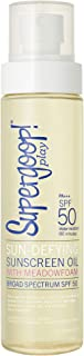 Supergoop! Sun-Defying Sunscreen Oil SPF 50, 5 fl oz - Hydrating Vitamin E Body Oil & Broad Spectrum Sunscreen Protection ...