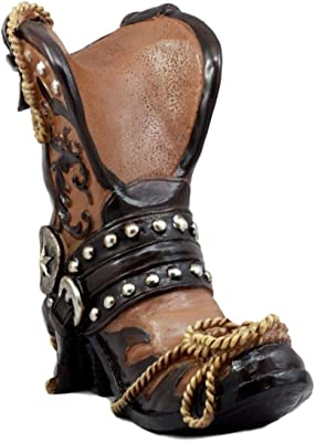 Western Texas Star Cowboy Boot And Spur Wine Holder 9