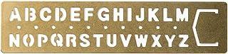 MIDORI 黄铜制 涂鸦模板式 书签 (字母图案) B