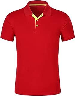 Clustor Brand Fashion Splice Lapel Tshirt Business Casual Teen T-Shirt tees