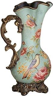 Jarrones de decoración para el hogar Flor de cerámica de Gran país y decoración de Aves Flor de Piso Decoración del hogar ...