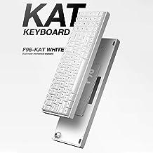 iQunix F96 KAT White Aluminum Mechanical Keyboard RGB LED Wireless Bluetooth 4.0 Cherry MX Swtich (Wired No RGB, Cherry Blue)