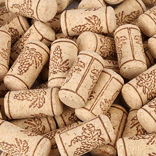 Corcho natural 100PCS 22 * ​​44mm Corcho natural Corchos rectos Tapón de botella de vino de madera