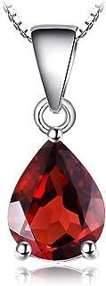 JewelryPalace Colgante Oval Redondo Triángulo Pera Forma Na