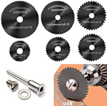 6 Pcs Rotary Drill Saw Blades, Steel Saw Disc Wheel Cutting Blades with 1/8