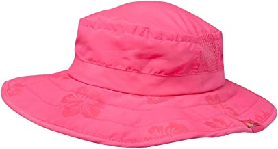Sun Protection Zone Kids' UPF 50+ Safari Sun Hat, Pink Flowers, Uv Sun Protective, Lightweight, Straps, One Size