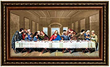 Eliteart- Jesus Christ The Last Supper by Leonardo da Vinci Giclee Art Canvas Prints Framed Size:29