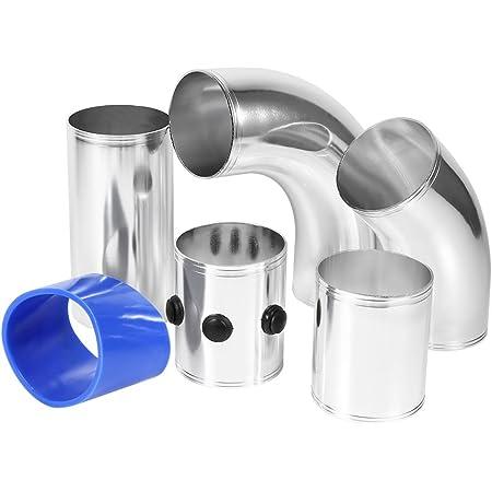 Universal Luftfilter Rohr Ansaugleitung Luftansaugrohr Ansaugkit Aluminiumlegierung Set Auto