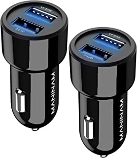 MANINAM 2020-Updated Car Charger, [2 Pack] Fast Dual USB Car Charger, 30W/5.4A Qualcomm Quick Charge 3.0 Car Adapter, For Apple iPhone 11 X XS XR 8 7 iPad Android Samsung Galaxy Tablet Plus Note Pixel
