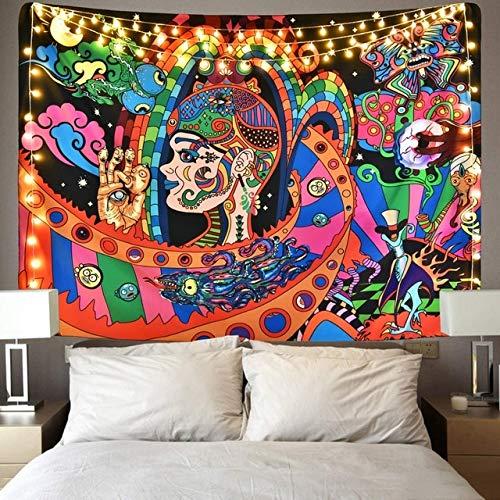 ydlcxst Mandala Tapiz Psicodélico para Colgar En La Pared Alfombras De Playa para Yoga Hippie Mobiliario para El Hogar Paño De Pared Tapiz Decorativo Bohemio Toalla De Playa Manta 150X200 Cm / F1801
