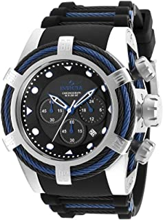 Men's Bolt Stainless Steel Quartz Watch with Silicone Strap, Two Tone, 33