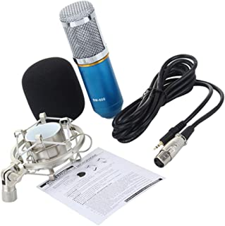 ULTNICE Condenser Microphone Portable Anchor Diaphragm Mic Online Live Recording Microphone Replacement for Women Men