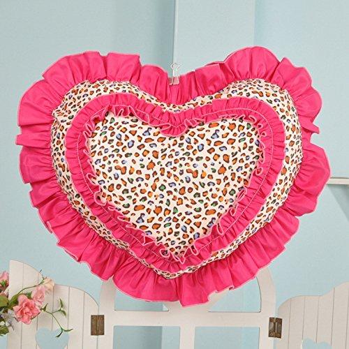 Baozengry Heart-Shaped Coton Canapé Coussin Oreiller De Voiture,40X46Cm [Remplir Avant La Taille Des Carreaux,Un Ensemble D'Oreiller Core Core [Interne]