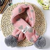 UXZDX Herbst und Winter Neue gestrickte Wolle Kinderschal wild warm Baby Schal Lätzchen