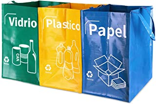 Opret Bolsas Basura Reciclaje 3 Pack Cubo de Reciclaje