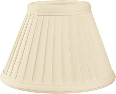 Royal Designs CS-112EG Pleated Empire Chandelier Lamp Shade, Size 6, Eggshell