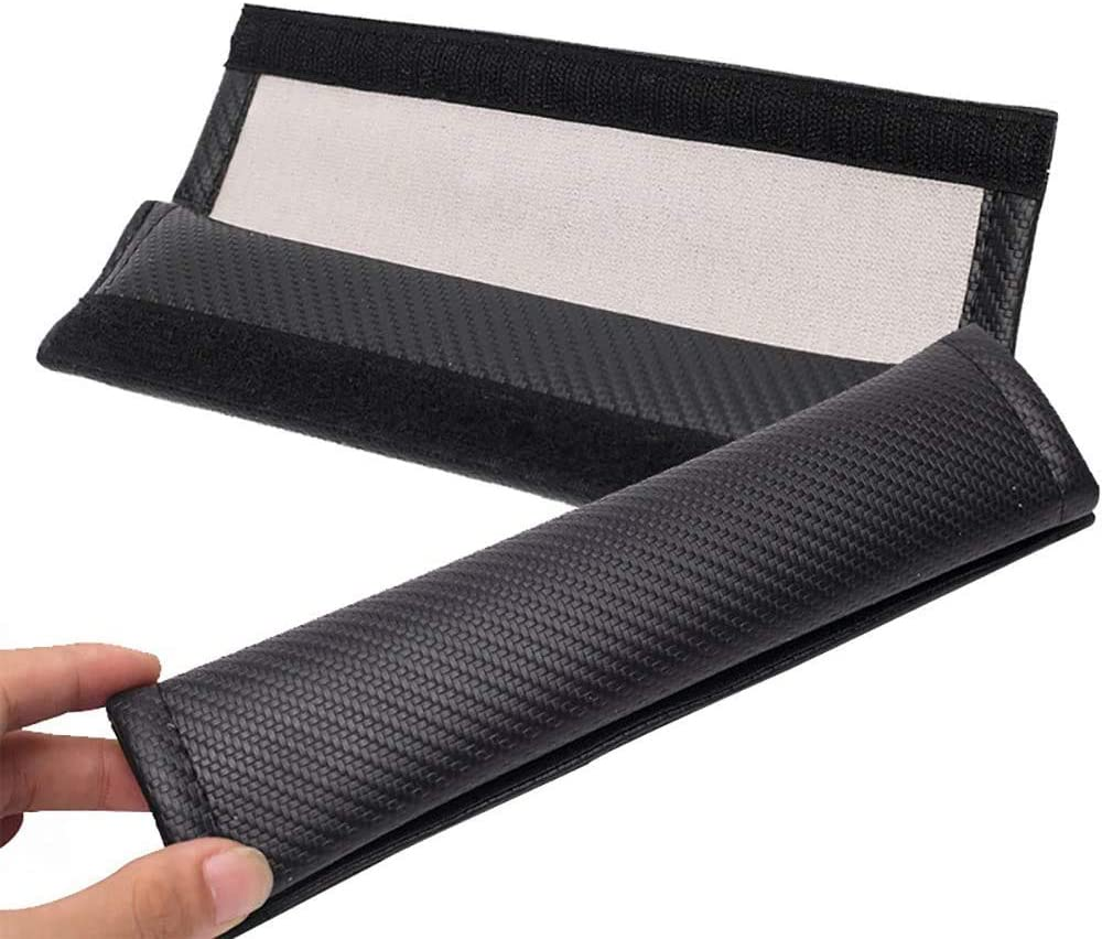 TDDRW 2 Pcs Car Seat Belt Shoulder Cover Protector For Nissan Xtrail Carbon Fibre Comfort Safety Harness Strap Shoulder Pads Auto Styling Accessories