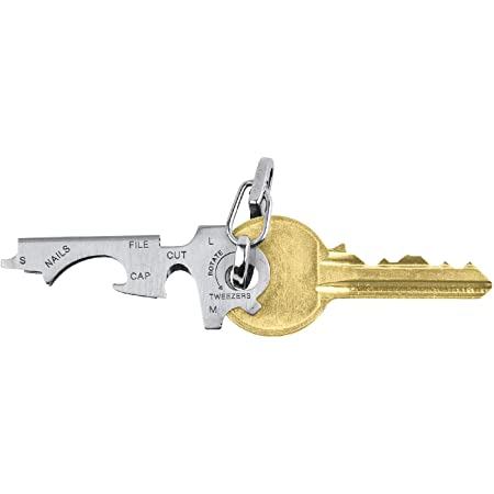 True Utility TU47 Keytool Multifunction Stainless Steel Key Ring Tool Accessory