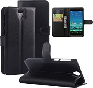 جراب من Gift_Source لهاتف HTC ONE E9 Plus، جراب لهاتف HTC E9 Plus، [وظيفة المحفظة] [أسود] جراب قلاب من جلد البولي يوريثان ...