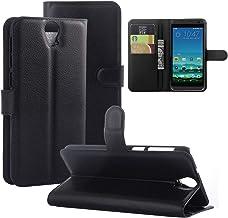 Gift_Source HTC ONE E9 Plus Case,HTC E9 Plus Case, [Wallet Function] [Black] Premium PU Leather Flip Cover Leather Case fo...