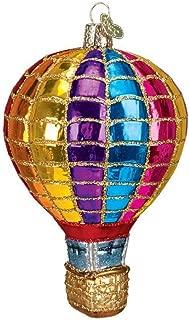 Old World Christmas Glass Blown Hot Air Balloon Rainbow Ornament