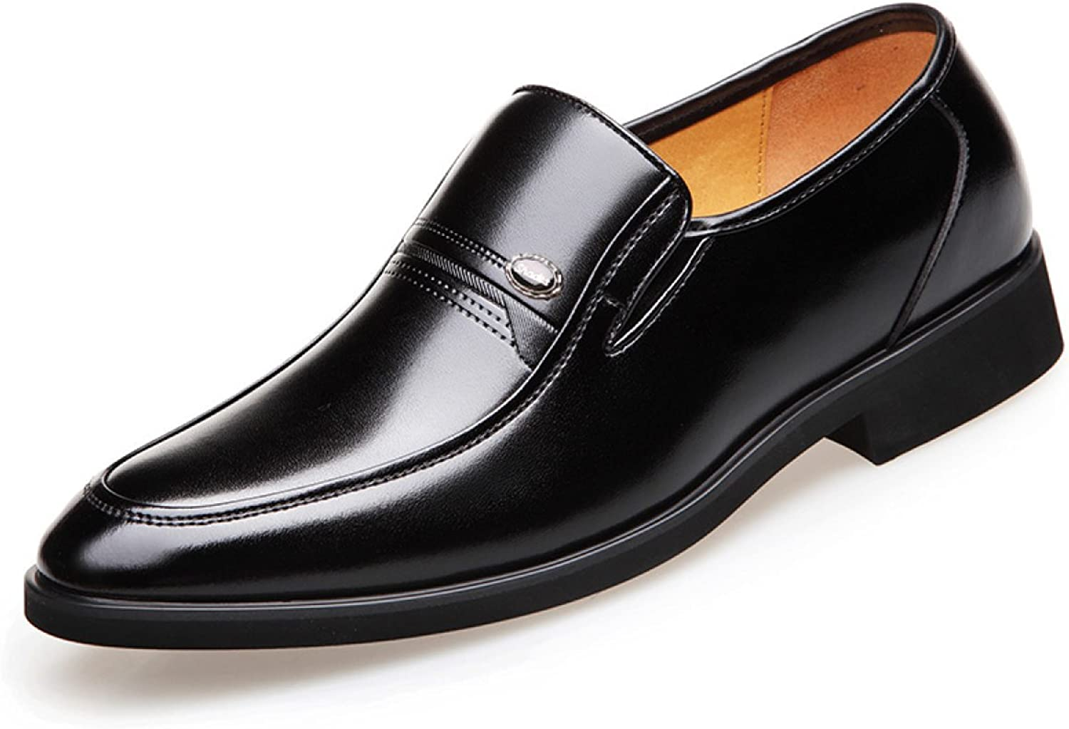 Mens Leather Lined Slip On Dress Wedding Formal shoes Casual shoes