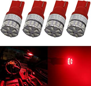 4-Pack T10 194 168 2825 Extremely Bright 150Lums Red 5th Generation Non-Polarity