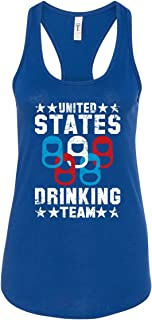 | United States Drinking Team | Women's 4th of July Funny Patriotic Olympic-Themed Racerback Tank
