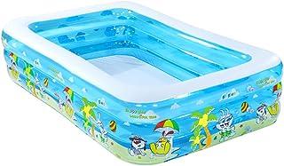 WH SHOP Piscina Hinchable Infantil Portatil Rectangular- Piscina Familiar para Centro de Natacion- Piscina Infantil de PVC para Bebes- Piscinas Inflables de Verano (180-200 - 250cm)