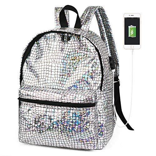 Laser Rugzak-Meisje Holografische Rugzak Bling Glitter PU Lederen Laser Schoudertas School Casual Daypacks 10