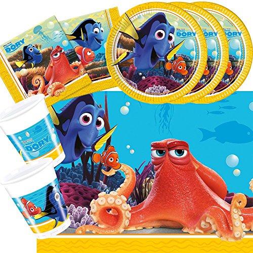 37-Teiliges Party-Set Findet Dory - Findet Nemo 2 - Teller Becher Servietten Tischdecke für 8 Kinder