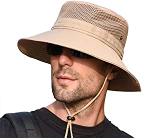 NW 1776 Men's Sun Hat, Unisex UV Protection Wide-Eyed Bucket Hat, Foldable Waterproof for Outdoor Safari Fishing Rowing Hu...