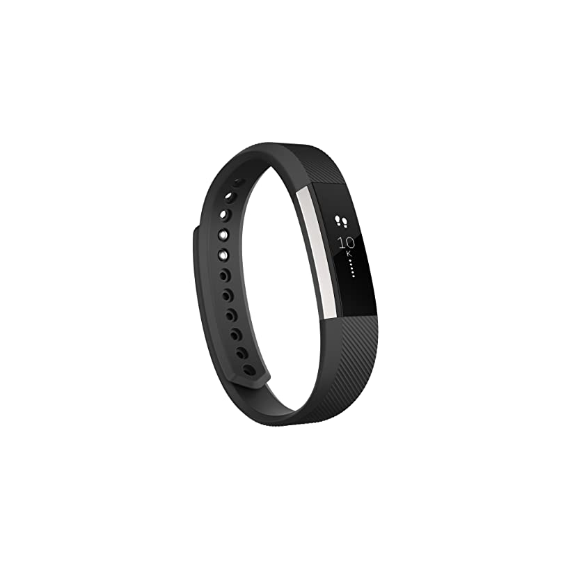 Fitbit Alta Smart Fitness Activity Tracker, Slim Wearable Water Resistant and Sleep Monitor, Silver/Black, Small (5.5 - 6.7 Inch)
