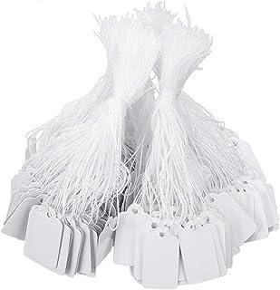 500枚 値札 クラフトタグ 無地 糸付き下げ札 ホワイト 無地 ラベル DIY 結婚式 バーティー 装飾用衣類価格タグ メッセージタグ プレゼントラベル