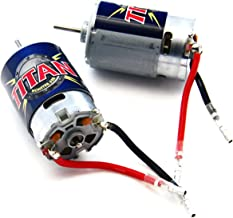 Traxxas 1/10 E-Maxx TWO 21t TITAN 550 MOTORS & BULLET CONNECTORS 14 Volts