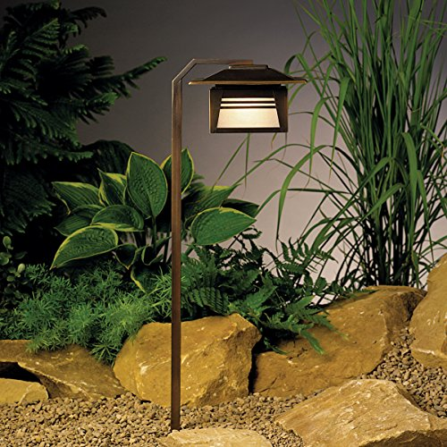 Kichler 15391OZ Zen Garden Path & Spread 1-Light 12V, Olde Bronze