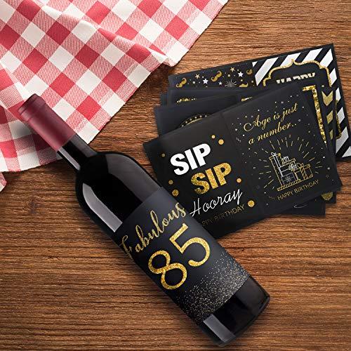 Happy 85th Birthday Wine Bottle Labels