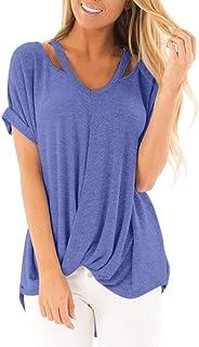 68876c14f38969 Tops for Women Clearence Sale,Lismea Women V-Neck T-Shirt Off Shoulder