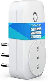 meross Presa Intelligente Wifi Italiana Smart Plug Spina Energy Monitor 16A 3680W, Funzione Timer Compatibile con SmartThi...