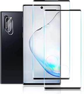 JKPNK Galaxy Note 10 Plus Glass Screen Protector + Camera Lens Protector [2 Pack + 2 Pack] HD Full Coverage [Anti-Glare] [...