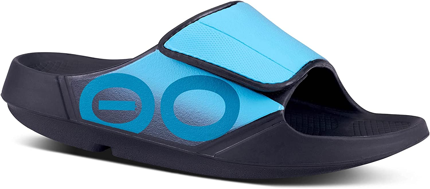 OOFOS OOahh Sport Flex Slide - Lightweight Recovery Footwear - Reduces Pressure on Feet, Joints & Back - Machine Washable - Hand-Painted Graphics