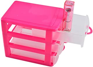 haoun 3-Tier Mini Desktop Organizer Drawer Type Storage Box - Pink